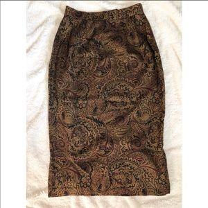 Vintage Talbots Silk Blend Maxi skirt